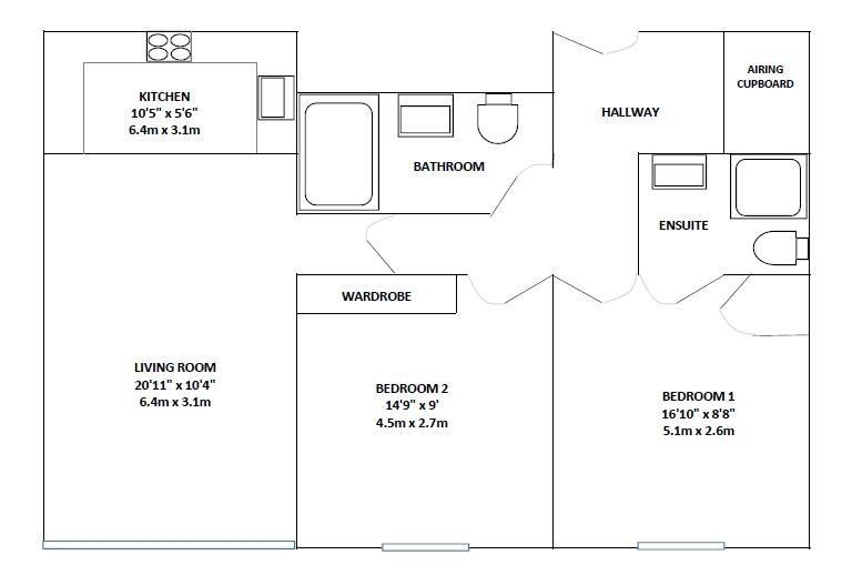 2 bedroom furnished apartment to rent in reading the for Reading a floor plan