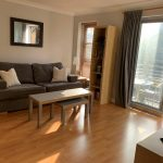 One bed-modern flat, close to rail station with parking space